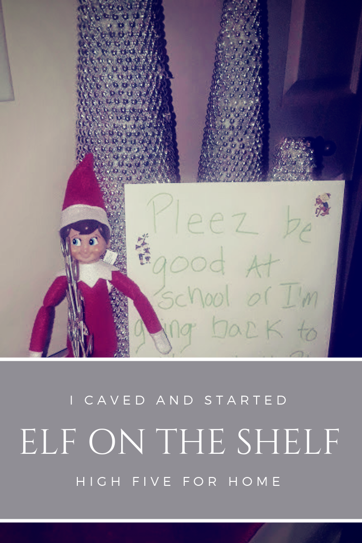 I Caved and Started Elf on the Shelf